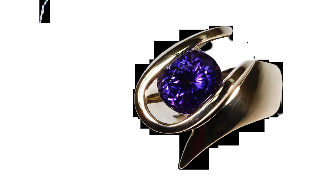 """""""Imperial E-Loop"""" Ladies Ring"""