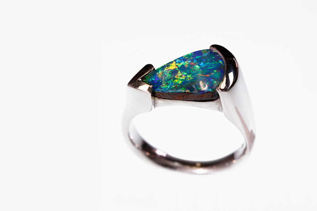 Koorey Creations Custom Opal Ring