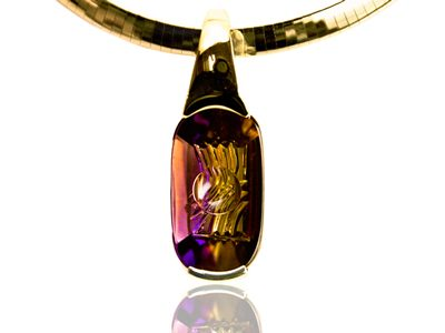 """Ametrine Bliss"" Ladies Slide Pendant"