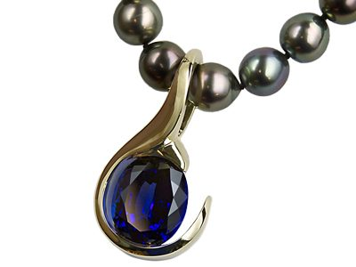 """Tanzanite Dream"" Ladies Slide Pendant"