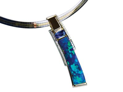"""Intensity"" Opal Slide Pendant"